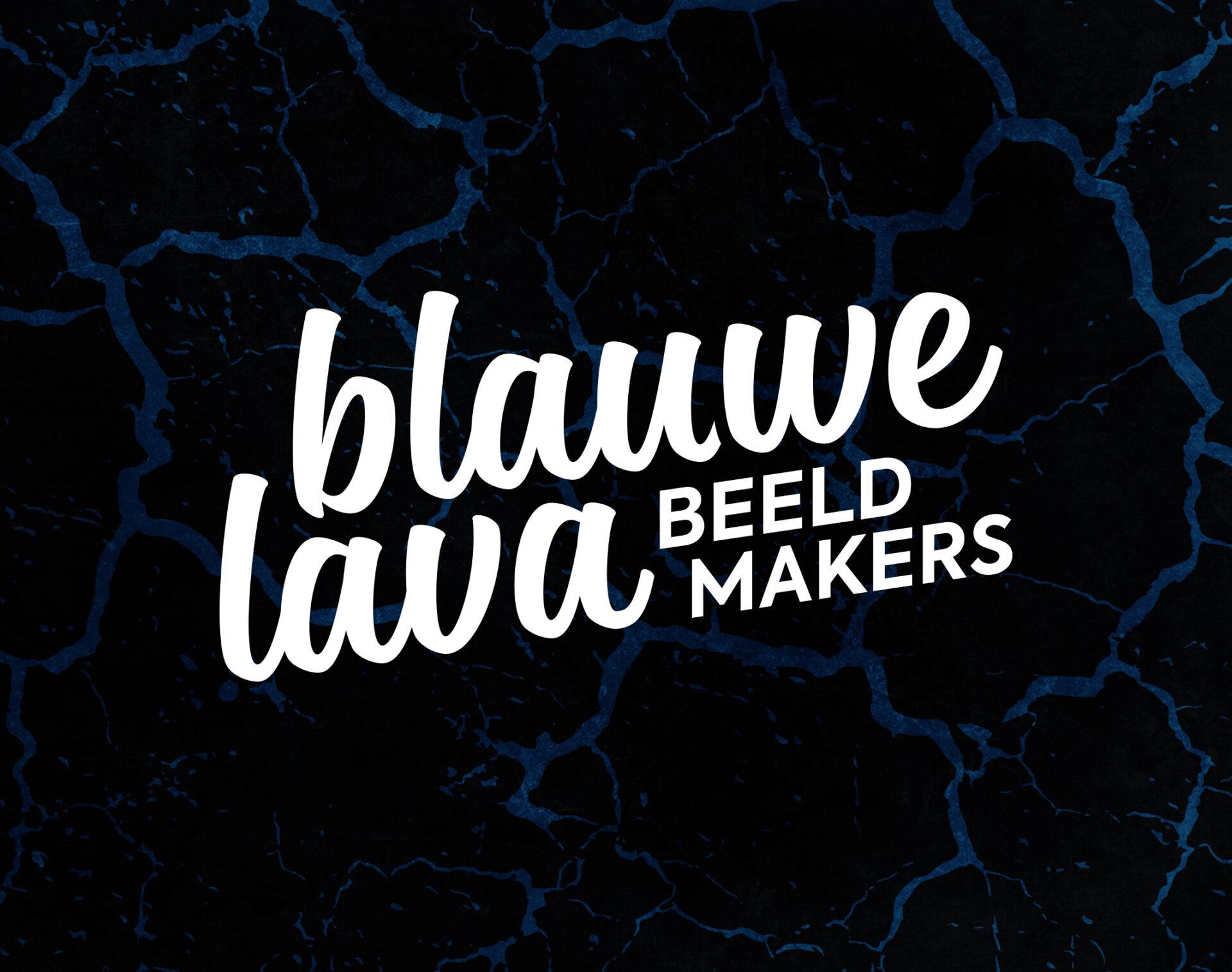 Logo en huisstijl voor Blauwe Lava uit Groningen gemaakt door Sjoerd van Schagen