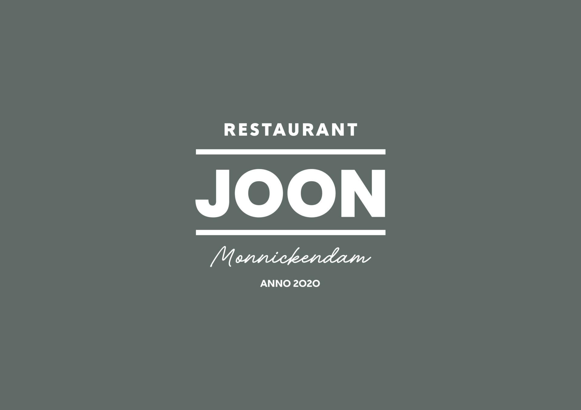 Logo voor Restaurant JOON in Monnickendam gemaakt door Sjoerd van Schagen