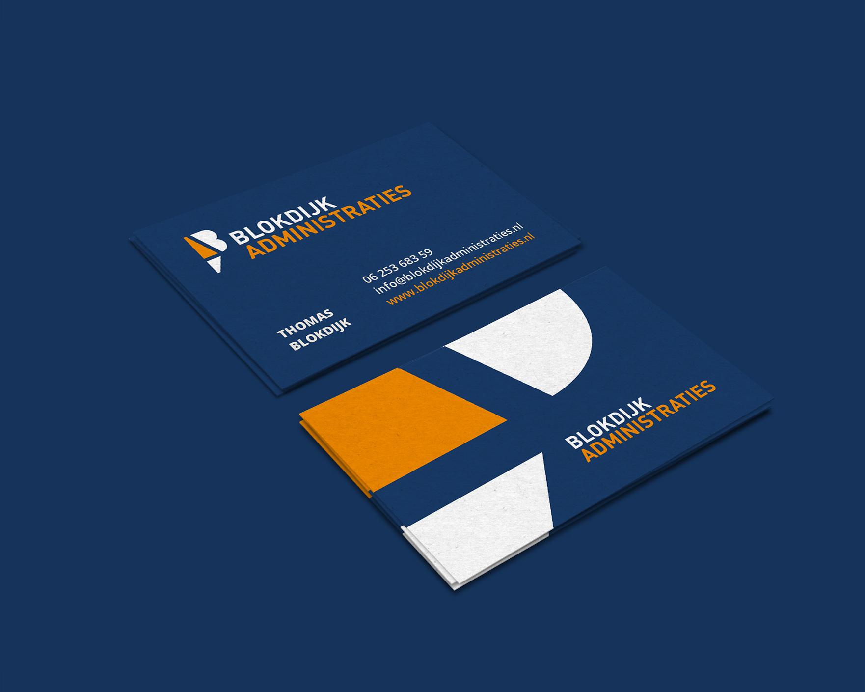 Logo en visitekaartjes voor Thomas Blokdijk Administraties in Tuitjenhorn gemaakt door Sjoerd van Schagen