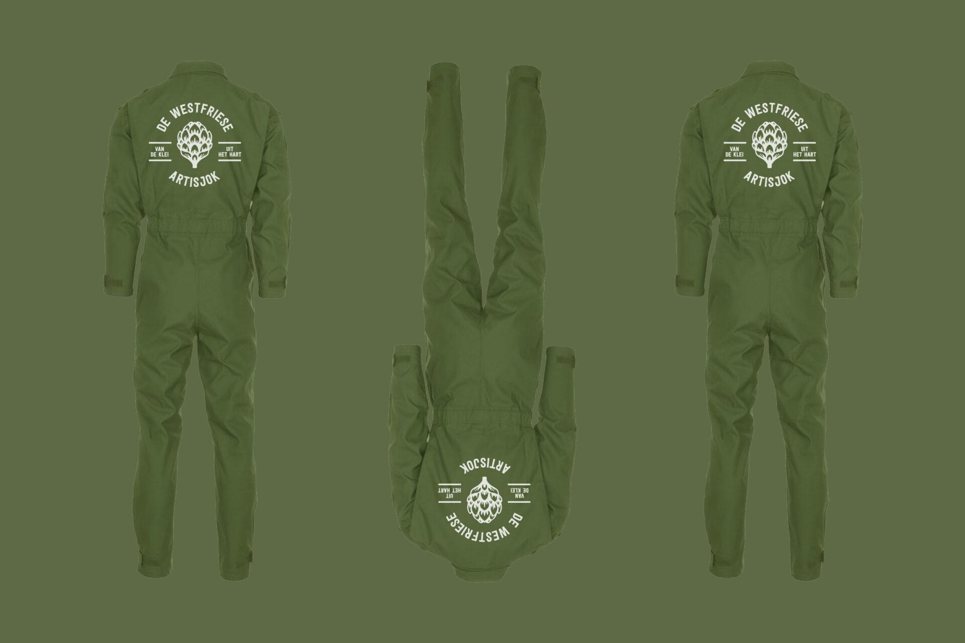 Overalls en logo voor Merijn, Maxim, Lars en Thom van De Westfriese Artisjok gemaakt door Sjoerd van Schagen