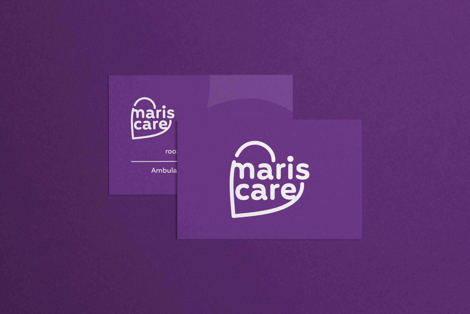 Visitekaartjes met hart voor Mariscare gemaakt door Sjoerd van Schagen