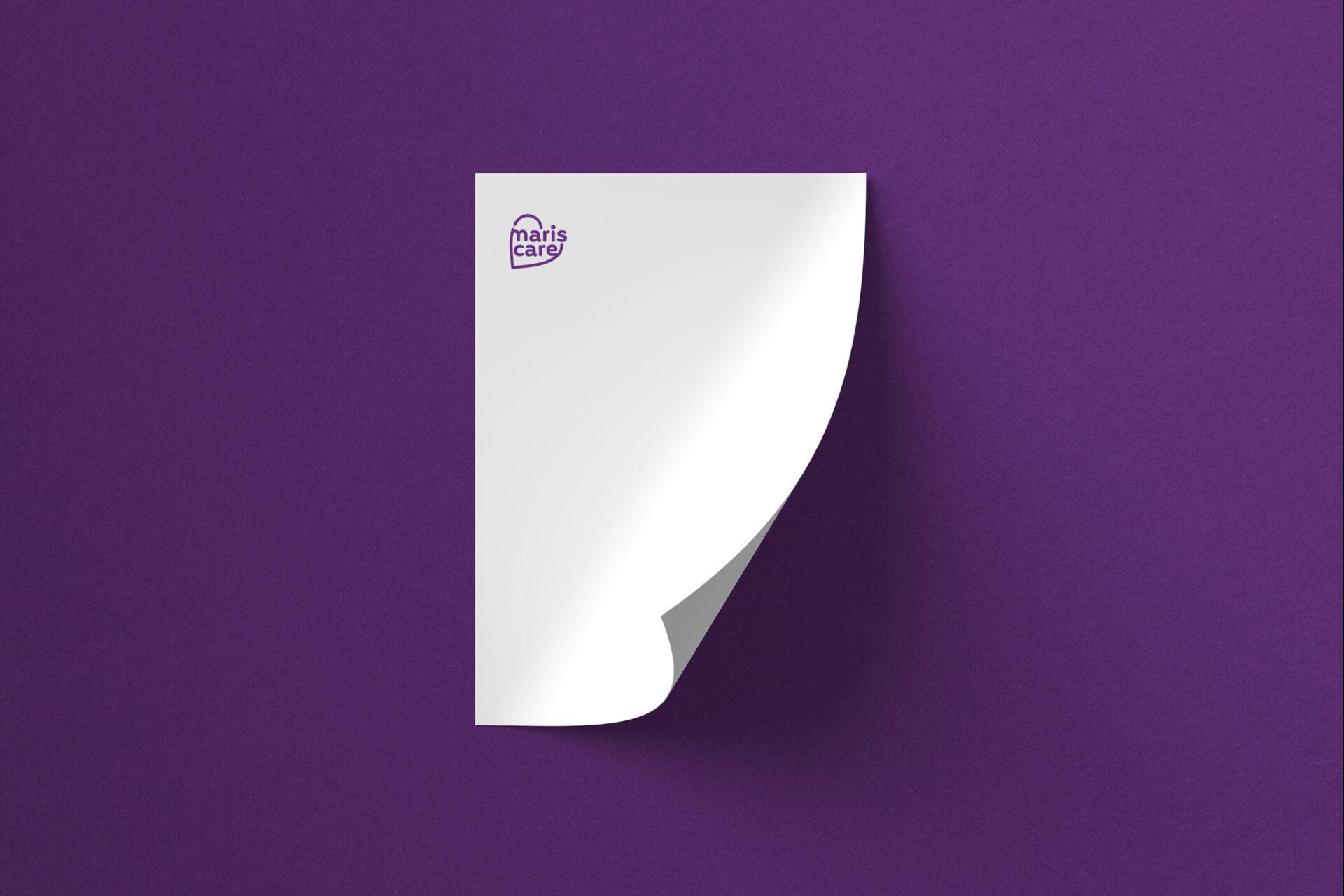 Logo en briefpapier voor Mariscare gemaakt door Sjoerd van Schagen