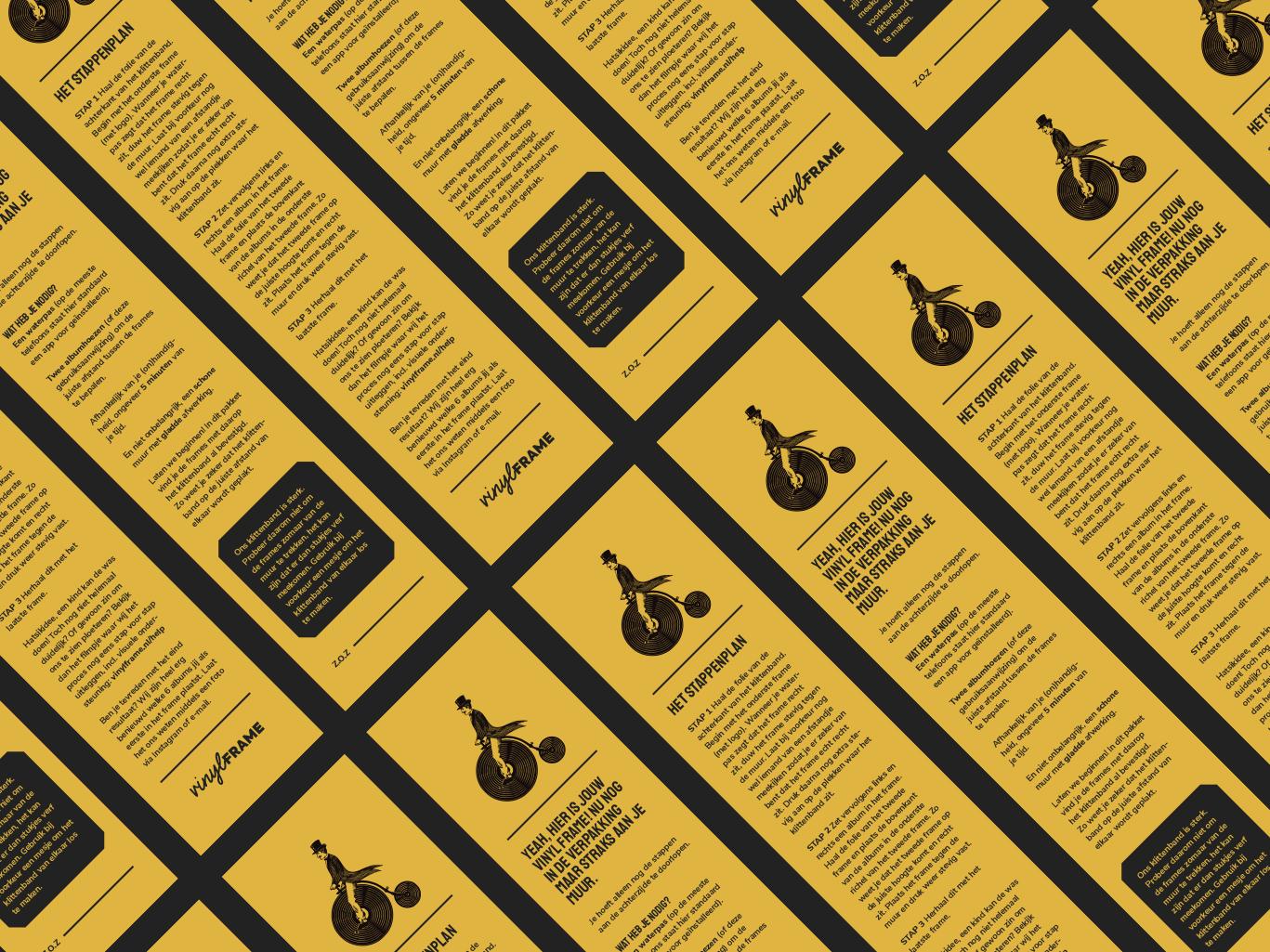 Flyers voor VinylFrame gemaakt door Sjoerd van Schagen