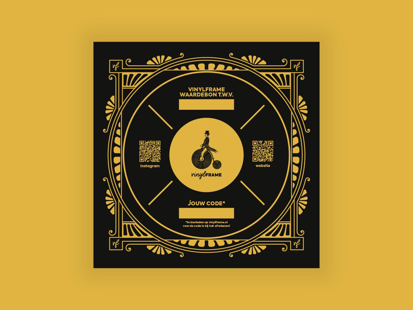 Waardebon voor VinylFrame gemaakt door Sjoerd van Schagen