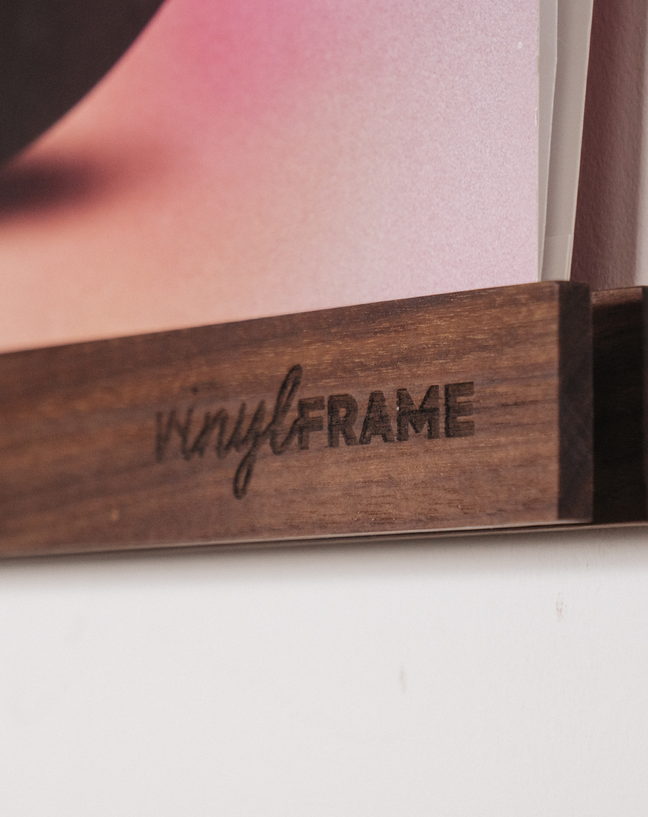 Closeup van het VinylFrame gemaakt door Hannah Bruijnzeel