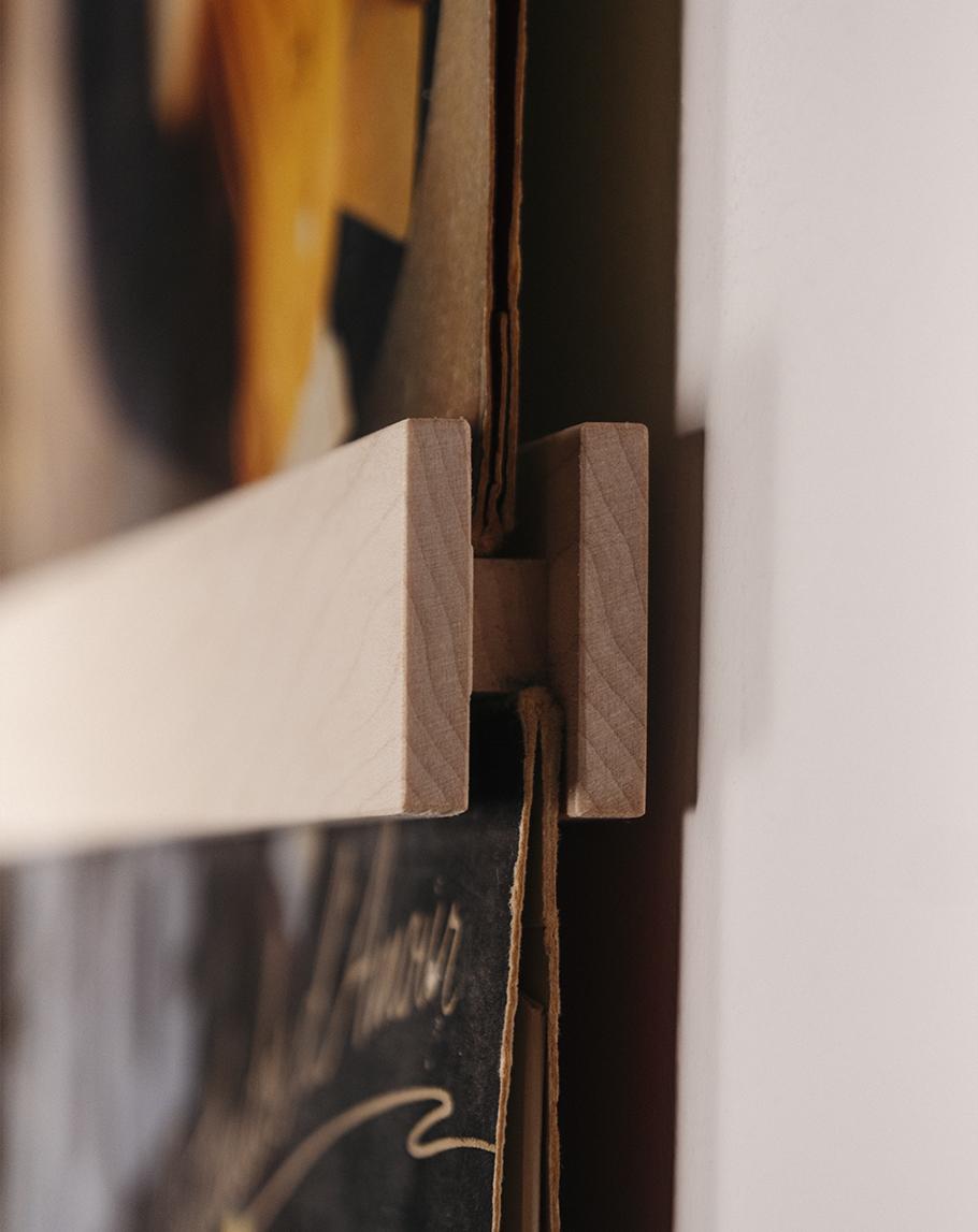 Een closeup van het VinylFrame gemaakt door Hannah Bruijnzeel
